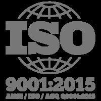 Logo Iso9001 2015 Gray